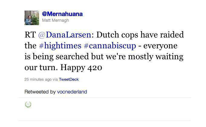 High Times cannabis cup raided by police